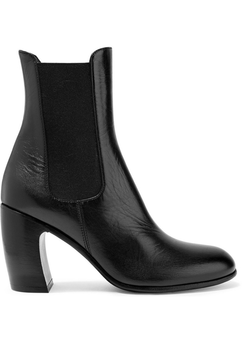 ANN DEMEULEMEESTER Leather Ankle Boots PAvRuL