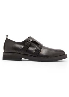 Ann Demeulemeester Leather double monk strap shoes