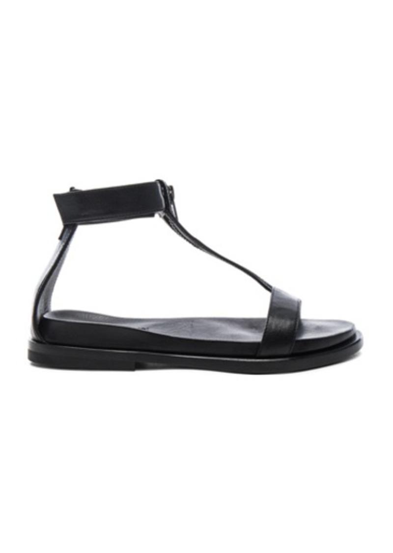 Ann Demeulemeester Leather Flat Sandals