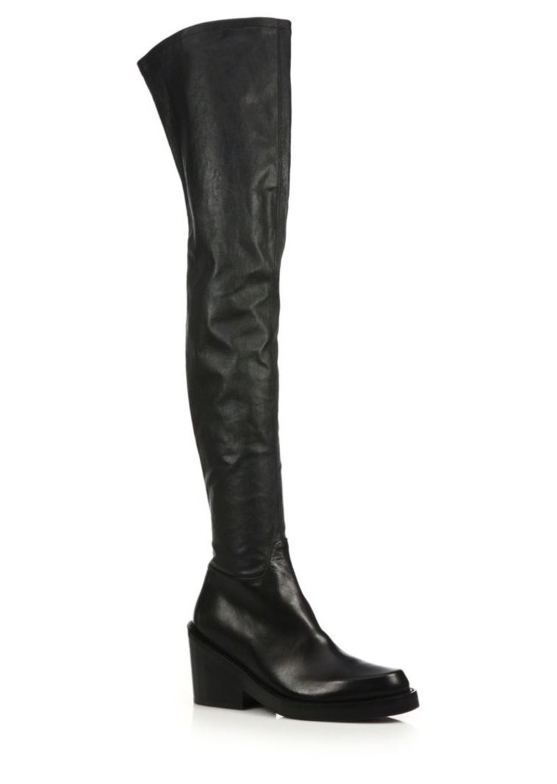 dc252a1ff83 SALE! Ann Demeulemeester Ann Demeulemeester Leather Over-The-Knee ...
