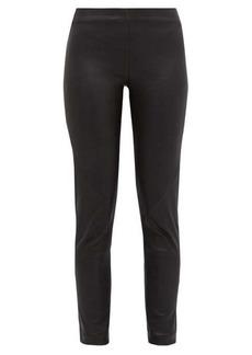 Ann Demeulemeester Leather slim-leg trousers