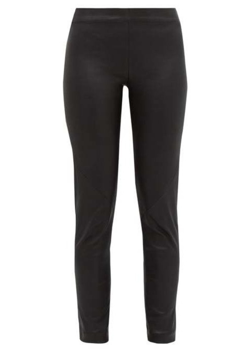 Ann Demeulemeester Leather slim-leg trousers