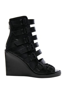 Ann Demeulemeester Leather Wedges