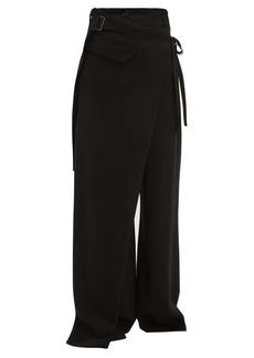 Ann Demeulemeester Lightlaine asymmetric wrap trousers