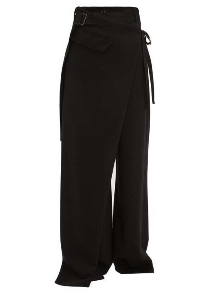 Ann Demeulemeester Lightlaine asymmetric wrap trousers