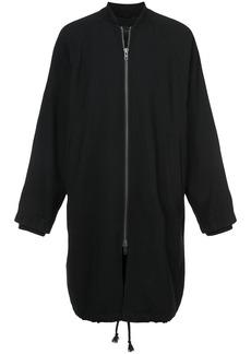 Ann Demeulemeester long bomber jacket - Black