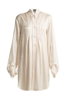 Ann Demeulemeester Long-line silk-blend blouse