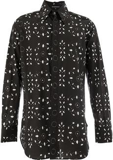 Ann Demeulemeester long sleeve printed shirt - Black