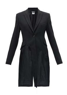 Ann Demeulemeester Longline cutout twill jacket