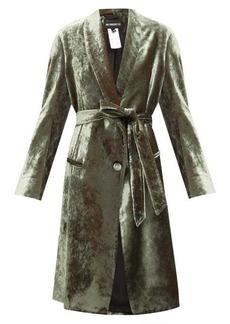 Ann Demeulemeester Longline velvet robe coat