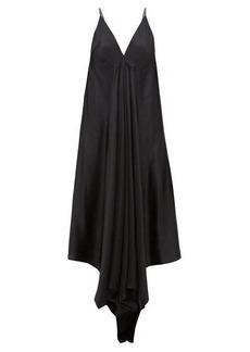 Ann Demeulemeester Magya draped satin slip dress