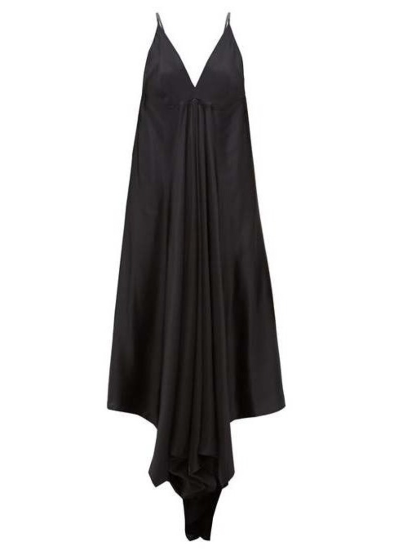 Ann Demeulemeester Magya draped satin slip dress