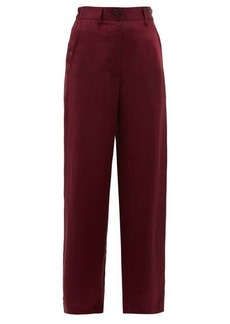 Ann Demeulemeester Magya satin trousers