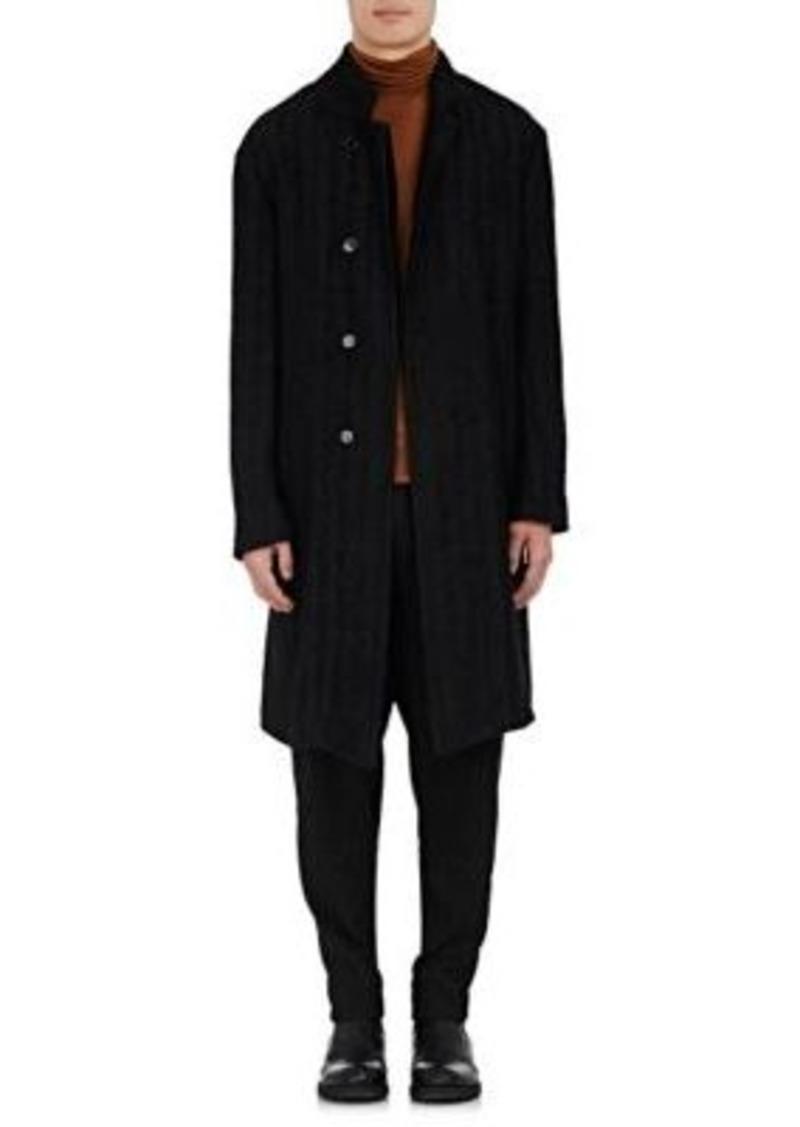 Ann Demeulemeester Men's Basket-Weave Coat-Black Size L