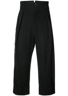 Ann Demeulemeester mustang cropped trousers - Black