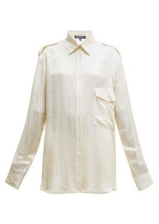 Ann Demeulemeester Nanette flap-pocket satin shirt