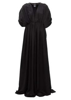 Ann Demeulemeester Nanette gathered satin dress