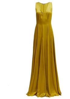 Ann Demeulemeester Nanette V-neck faille maxi dress