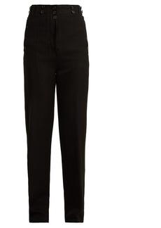 Ann Demeulemeester Oberon buttoned wool-blend trousers