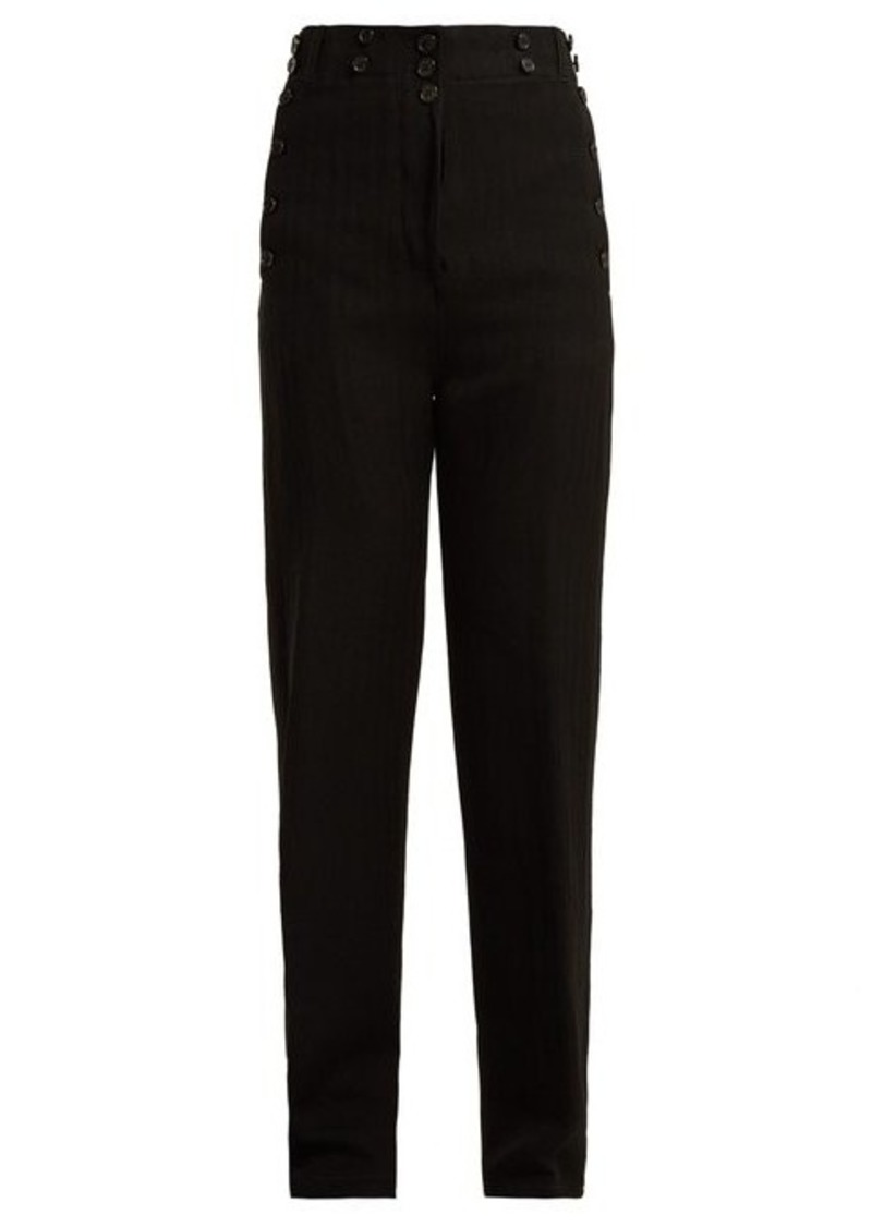 Ann Demeulemeester Oberon buttoned wool-blend trousers