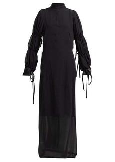 Ann Demeulemeester Open-back silk-chiffon dress
