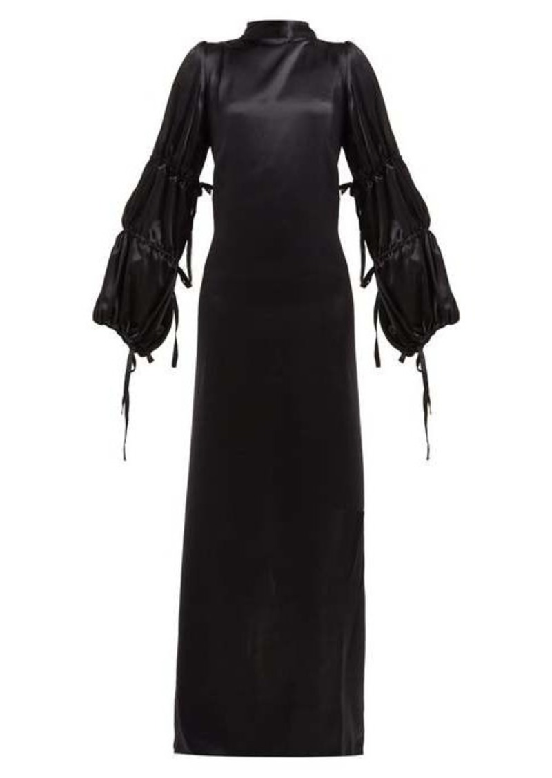 Ann Demeulemeester Open-back silk-satin crepe gown