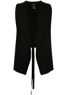 Ann Demeulemeester open-front waistcoat - Black