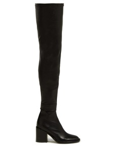 Ann Demeulemeester Over-the-knee leather boots