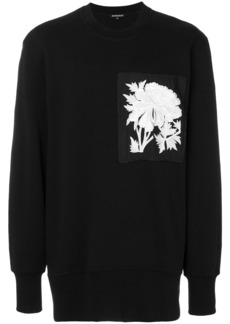 Ann Demeulemeester oversize embroidered patch sweatshirt - Black