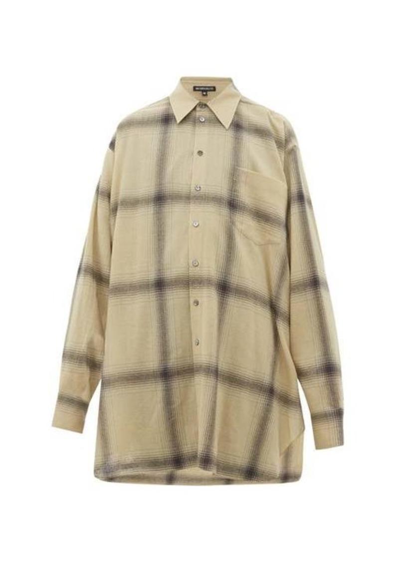 Ann Demeulemeester Oversized checked wool shirt