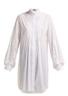 Ann Demeulemeester Oversized pleat-front cotton shirt