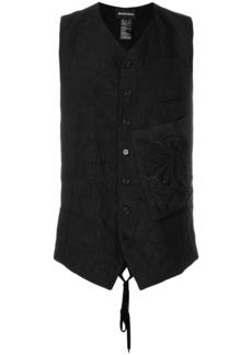 Ann Demeulemeester patch pocket crinkled waistcoat - Black