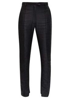 Ann Demeulemeester Pintucked slim-leg wool trousers