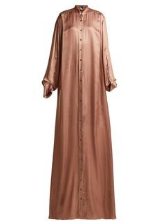 Ann Demeulemeester Pleated charmeuse dress