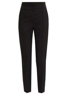 Ann Demeulemeester Pintucked slim-leg wool-twill trousers