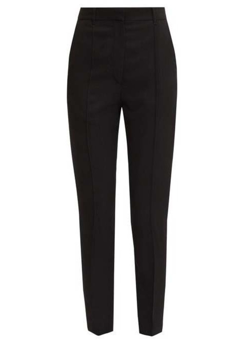 Ann Demeulemeester Pleated slim-leg twill trousers