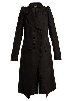 Ann Demeulemeester Priestley exaggerated-shoulder wool coat