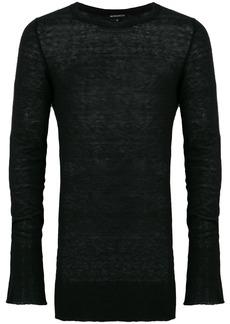 Ann Demeulemeester raw edge oversized sweater - Black