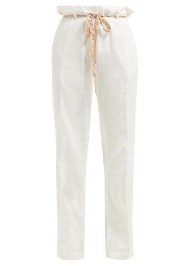 Ann Demeulemeester Raw-seam tailored cotton trousers