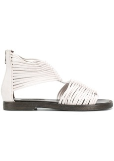 Ann Demeulemeester rear zip gladiator sandals - White