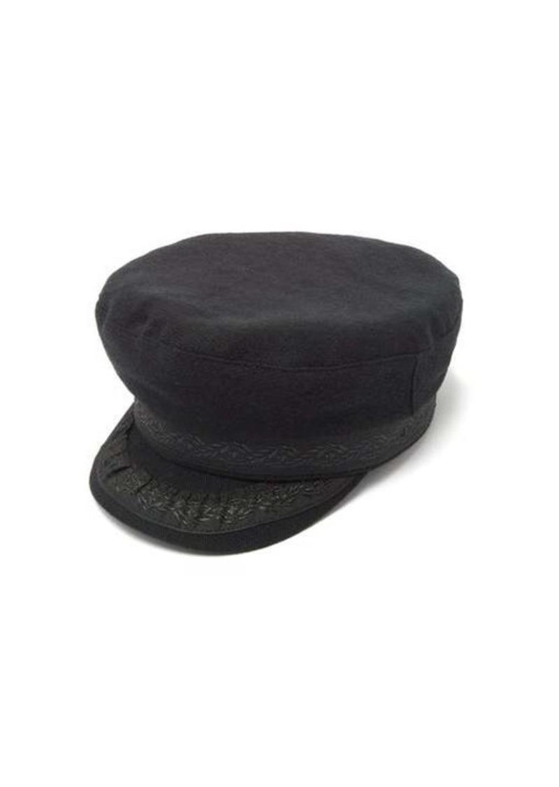 Ann Demeulemeester Ribbon-trim wool-blend mariner's cap