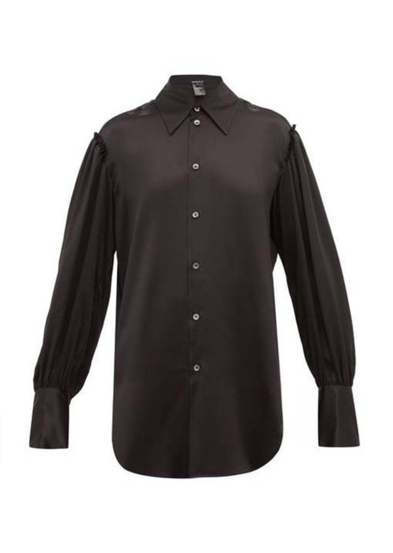 Ann Demeulemeester Rososeto ruffled silk-satin blouse