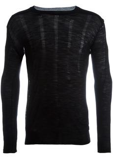 Ann Demeulemeester round neck jumper - Black