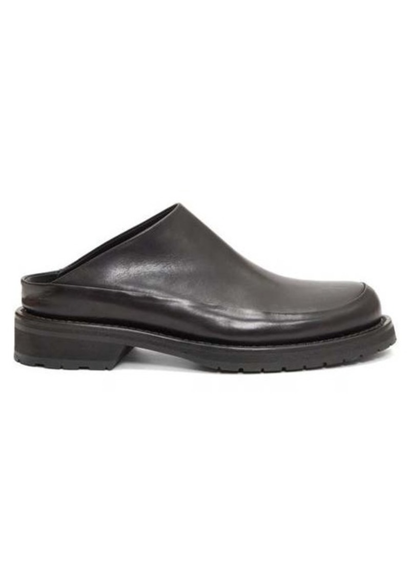 Ann Demeulemeester Round-toe backless leather flats