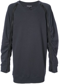Ann Demeulemeester ruched zip sleeve sweatshirt - Black