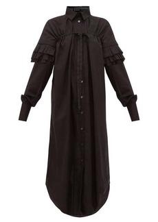 Ann Demeulemeester Ruffle-sleeve cotton-poplin shirt dress