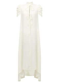 Ann Demeulemeester Ruffled-neck cotton-voile shirt dress