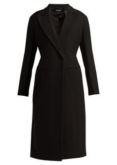 Ann Demeulemeester Satin-trim wool-blend coat