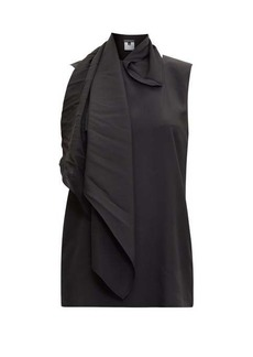 Ann Demeulemeester Scarf-neck silk-satin top