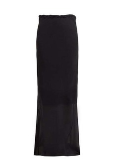 Ann Demeulemeester Semi-sheer silk maxi skirt